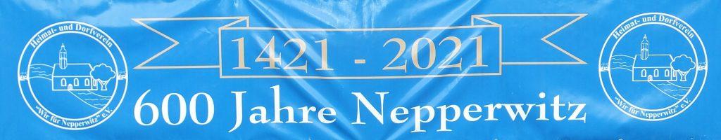 Banner 600 Jahre Nepperwitz